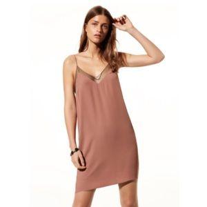 Aritzia Babaton Ciro Slip Dress in Nutmeg/Black